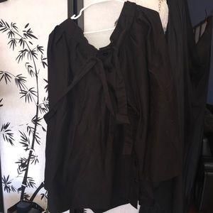 Eloquii long black skirt
